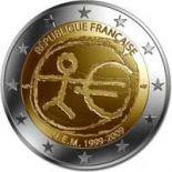 Frankreich - 2 Euro 10 Jahre des Euro - 2009