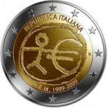 Italie - 2 Euro 10 ans de l'Euro - 2009