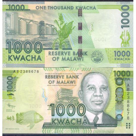 Billets de banque Malawi Pk N° 999 - 1000 Kwacha