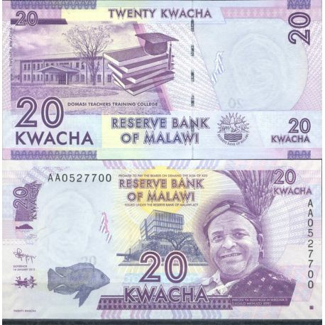 Malawi - Pk N° 999 - Billet de 20 Kwacha