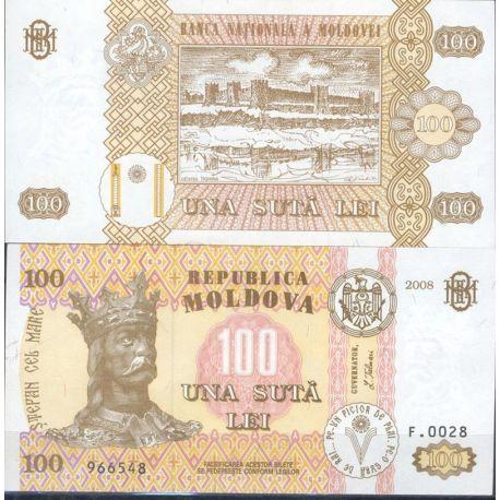 Billets de banque Moldavie Pk N° 15 - 100 LEI