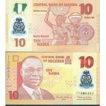 Billets de banque Nigeria Pk N° 39 - 10 Naira