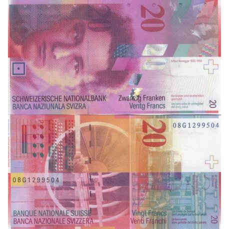 Billets de banque Suisse Pk N° 69 - 20 Francs