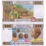 Banconote Repubblica Centrafricana Pick numero 306 - 500 FRANC 2002