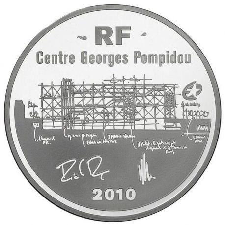 France -10 Euro Argent Centre Pompidou 2010