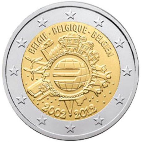Belgique - 2 Euro 10 ans des pièces et billets - 2012