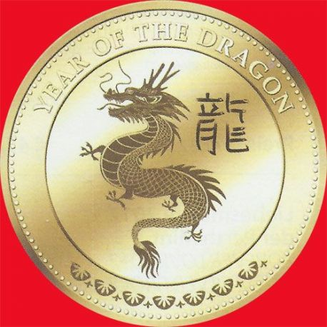 Fidji - 10$ Or - Année du Dragon - 2012