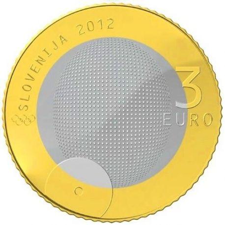 Slovénie - 3 Euro - Première Médaille Olympique - 2012