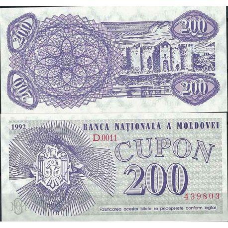 Moldavie - Pk N° 2 - Billet de banque de 200 Cupon