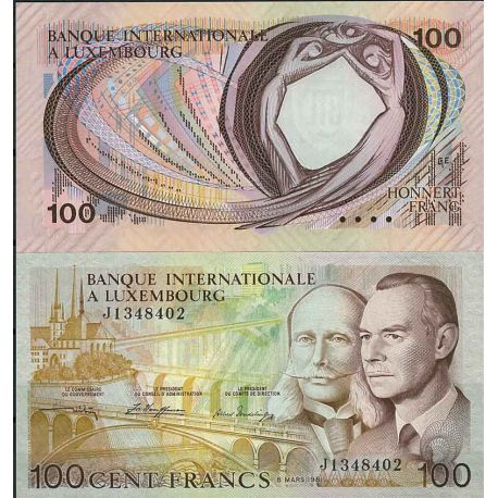 Billets de collection Luxembourg - Pk N° 14 - Billet de banque de 100 Francs Billets du Luxembourg 42,00 €