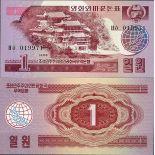 Sammlung von Banknoten Nordkorea Pick Nummer 35 - 5 Won 1988
