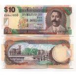 Bello banconote Barbados Pick numero 68 - 10 Dollar 2007