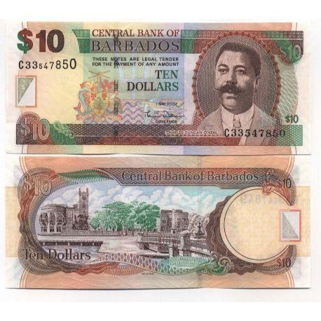 BARBADE - Pk N° 68 - Billet de 10 Dollars