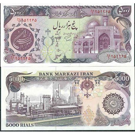 Iran - Pk N° 130 - Billet de banque de 5000 Rials