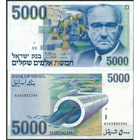 Billets de collection Israel - Pk N° 50 - Billet de banque de 5000 Sheqalim Billets d'Israel 76,00 €