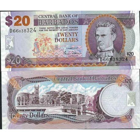 Billets de collection Barbade - Pk N° 69 - Billet de banque de 20 Dollars Billets de la Barbade 41,00 €