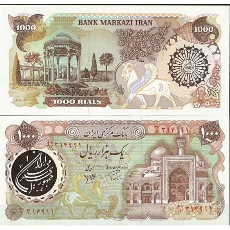 Iran - Pk N° 129 - Billet de banque de 1000 Rials