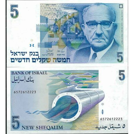 Billets de collection Israel - Pk N° 52 - Billet de banque de 5 Sheqalim Billets d'Israel 20,00 €