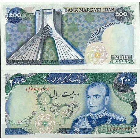 Billets de collection Iran - Pk N° 103 - Billet de banque de 200 Rials Billets d'Iran 22,00 €
