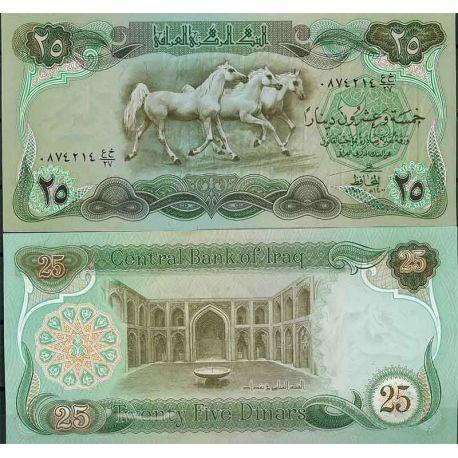 Billets de collection Irak - Pk N° 66 - Billet de banque de 25 Dinars Billets d'Irak 11,00 €