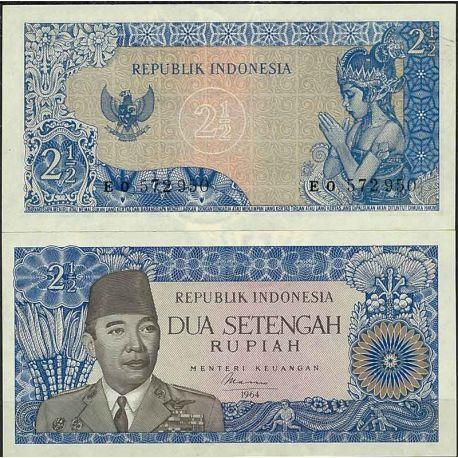 Indonesie - Pk N° 81B - Billet de banque de 2.5 Rupiah