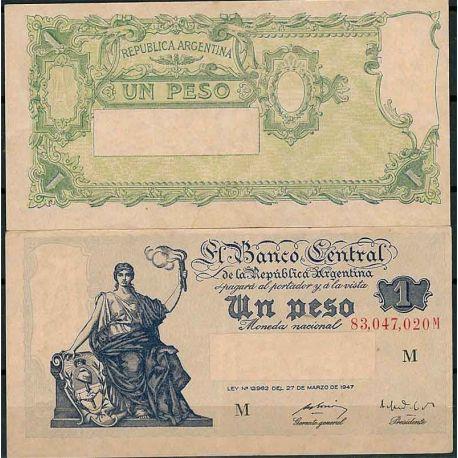 Billets de collection Argentine - Pk N° 262 - Billet de banque de 1 Peso Billets d'Argentine 7,00 €