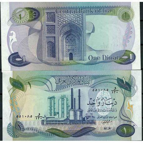 Billets de collection Irak - Pk N° 63 - Billet de banque de 1 Dinars Billets d'Irak 8,00 €