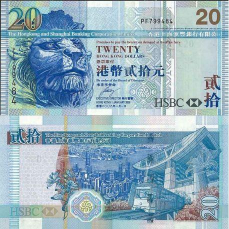 Hong Kong - Pk N° 207B - Billet de banque de 20 Dollars