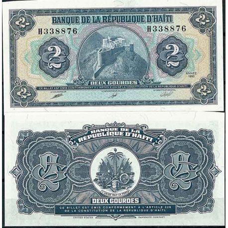 Billets de collection Haiti - Pk N° 254 - Billet de banque de 2 Gourdes Billets d'Haiti 7,00 €