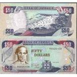 Collection of Banknote Jamaica Pick number 83 - 50 Dollar
