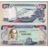 Sammlung von Banknoten Jamaika Pick Nummer 83 - 50 Dollar