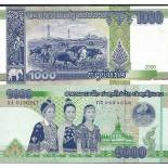 Collection of Banknote Laos Pick number 39 - 1000 Kip
