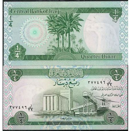 Billets de collection Irak - Pk N° 61 - Billet de banque de 1/4 Dinar Billets d'Irak 7,00 €