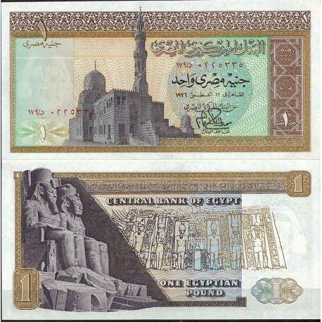 Billets de collection Egypte - Pk N° 44 - Billet de banque de 1 Pound Billets d'Egypte 9,00 €