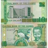Collection of Banknote Gambia Pick number 26 - 10 Dalasi 2006