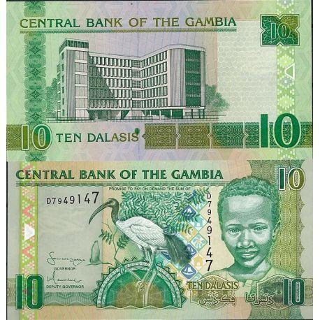 Billets de collection Gambie - Pk N° 26 - Billet de banque de 10 Dalasis Billets de Gambie 4,00 €