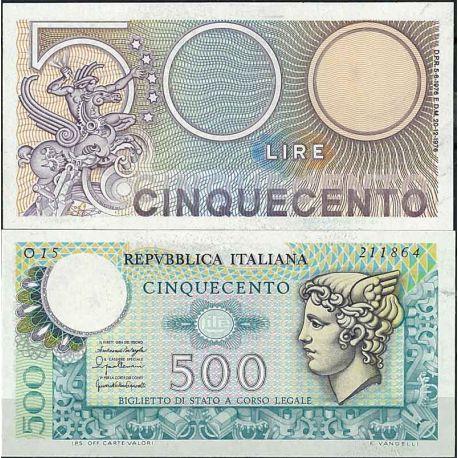 Billets de collection Italie - Pk N° 95 - Billet de banque de 500 Lire Billets d'Italie 12,00 €