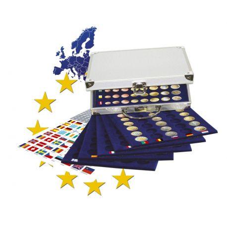 Numismate Mallette 30 séries Euros sous capsules