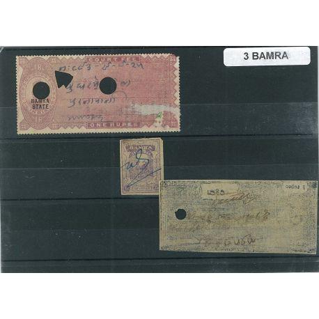Bamra - 3 verschiedene Briefmarken