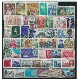 Briefmarken Frankreich 1970 in neuem ganzem Jahr