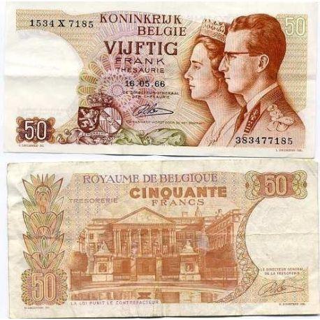 Belgien - Pk Nr. 139-50-Franken-banknote