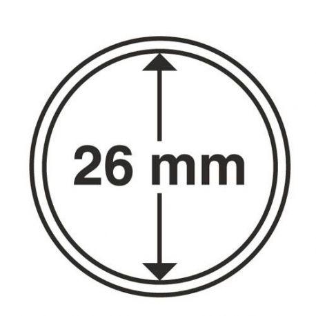 Numismate 25 capsules pour pièces de 2 Euro