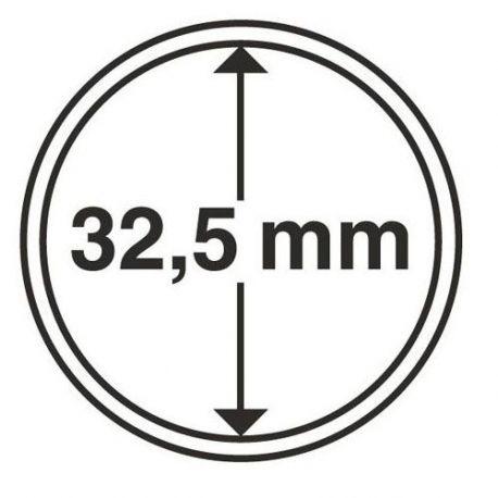 Numismate 5 capsules pour pièces diametre 32.5mm
