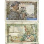 Colección Billetes Francia Pick número 99 - 10 FRANC