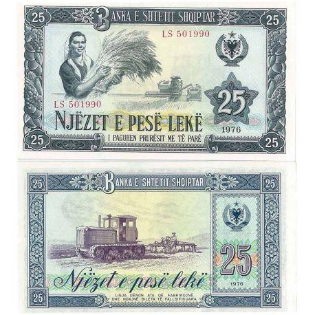 Albanie - Pk No. 44 - Billet de 25 Leke