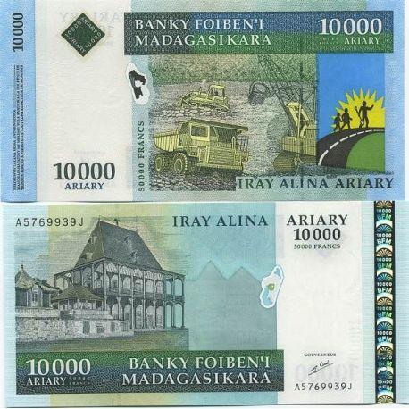 Billets de collection Madagascar - Pk N° 85 - Billet de banque de 10000 ARIARY Billets de Madagascar 42,00 €