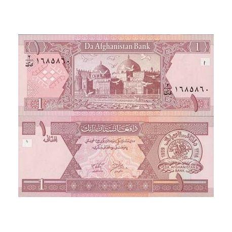 Billets de banque Afghanistan Pk N° 64 - 1 Afghanis