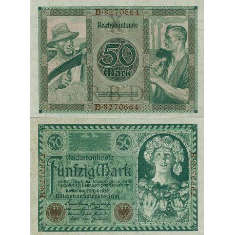 Billets de banque Allemagne Pk N° 68 - 50 Mark
