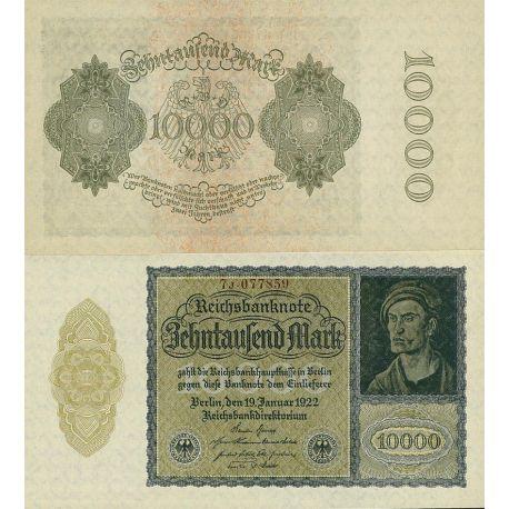 Billets de banque Allemagne Pk N° 71 - 10 000 Mark