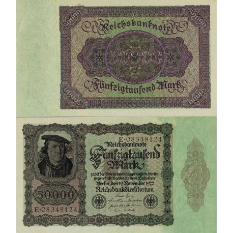 Billets de banque Allemagne Pk N° 79 - 50 000 Mark